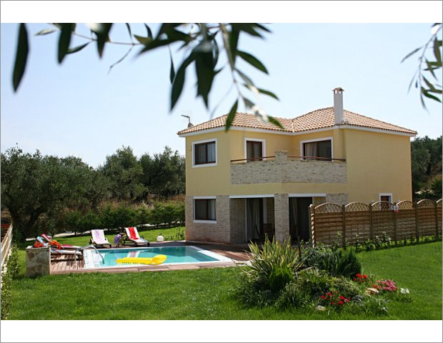 Exterior Areas of our Villas in Zante