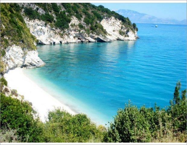 Xygia Sulphur Beach in north Zakynthos