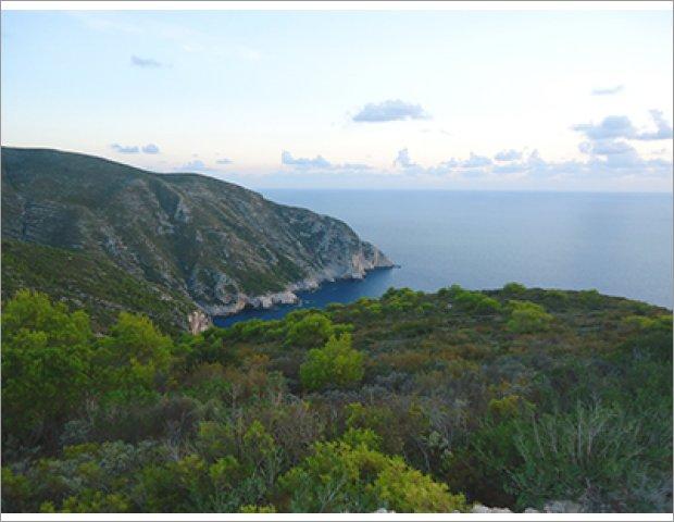 Panoramic view northwest Zakynthos
